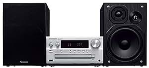 パナソニック CDステレオシステム ハイレゾ音源対応 USBメモリー/Bluetooth対応 シルバー SC-PMX70-S