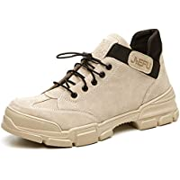 Men's Safety Boots Waterproof Steel Toe Work Boots Lightweight Leather Safety Shoes