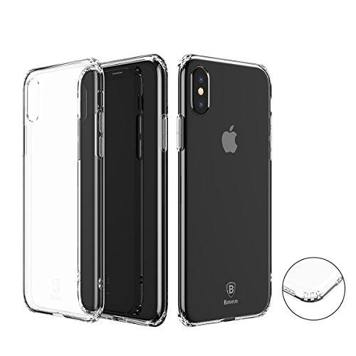 iPhone X ケース Baseus iPhone Xカバー アイフォンXケース 透明TPU 全面保護 軽量 衝撃防止 高級 薄型 携帯カバー アイフォンX用 カバー バンパーケース クリスタル・クリア 透明