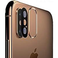 Sakula iPhone XS Max 対応 カメラレンズ 保護リング メタル カメラ保護フィルム付き 強化ガラス iPhone XS/XS Max 対応 (ゴールド)