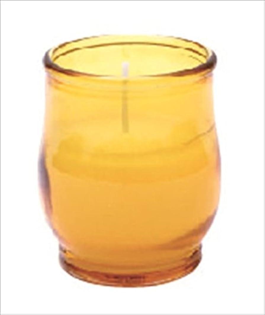 紫の廊下熟達したkameyama candle(カメヤマキャンドル) ポシェ 「 アンバー 」 キャンドル 68x68x80mm (73020040AM)