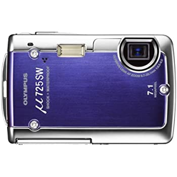OLYMPUS 防水デジタルカメラ μ725 (ミュー) ディープブルー μ725SW BLU