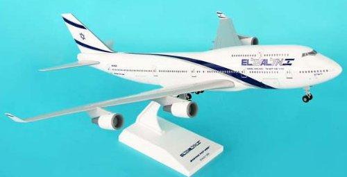 1: 200 スカイマークス El Al Israel 航空 ボーイング 747-400 with Landing Gear (並行輸入)