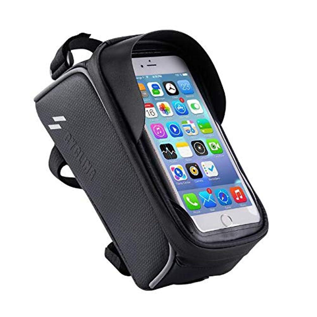 ローズ負荷スペード6.0インチまでの携帯電話のための自転車袋の上部の管のビームパッケージのしぶき防止のタッチ画面の大容量, Black