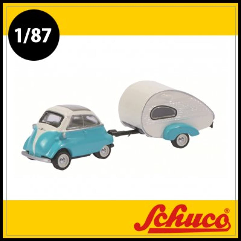 Schuco(シュコー)社ミニカー 452610300 BMW Isetta ES-Piccolo トレーラーハウス付 1/87
