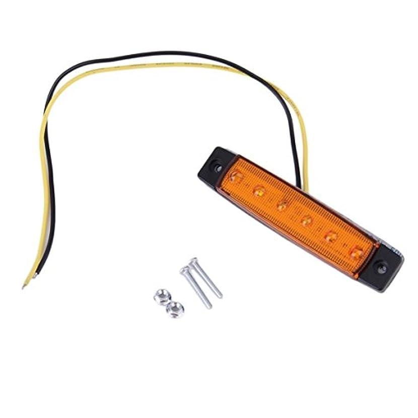テーブルを設定する出来事広まった6 LEDオートカートラックトレーラーサイドマーカーインジケーターライトランプ12 v超高輝度ライト低消費電力防水-黄色