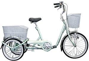 ミムゴ 20インチ三輪自転車内装3段ギア付 スイングチャーリー(グリーン) MG-TRE203SW-GR