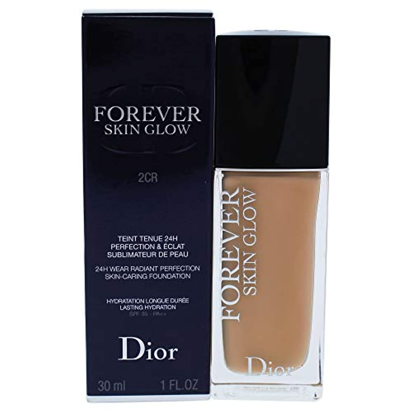 不毛トリム防ぐクリスチャンディオール Dior Forever Skin Glow 24H Wear High Perfection Foundation SPF 35 - # 2CR (Cool Rosy) 30ml/1oz並行輸入品