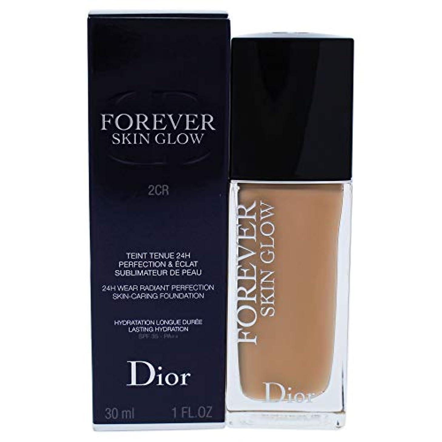 忌まわしい軌道酸化するクリスチャンディオール Dior Forever Skin Glow 24H Wear High Perfection Foundation SPF 35 - # 2CR (Cool Rosy) 30ml/1oz並行輸入品