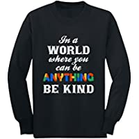 Tstars - Be Kind - Autism Awareness Youth Kids Long Sleeve T-Shirt