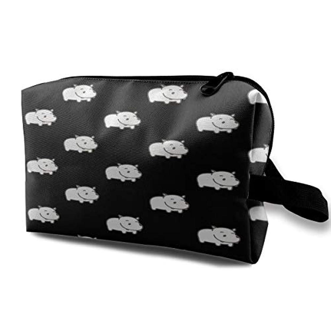 カプラー結婚するチャットBaby Hippo Pattern 収納ポーチ 化粧ポーチ 大容量 軽量 耐久性 ハンドル付持ち運び便利。入れ 自宅?出張?旅行?アウトドア撮影などに対応。メンズ レディース トラベルグッズ