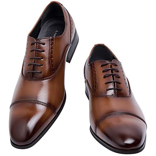 [ライム ガーデン] ビジネスシューズ メンズ 紳士靴 ストレートチップ ドレスシューズ 内羽根 軽量 LG201(茶,28.0cm)