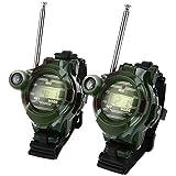 ウォッチ型 トランシーバー 子供用 多機能時計 子供のおもちゃ 通信範囲150M スパイゲーム カモフラージュ 遊び 男女兼用 2台セット