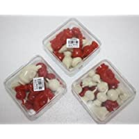 Thai Chess (Makruk) Plastic with Traditional White and Black/Red (1 Box)