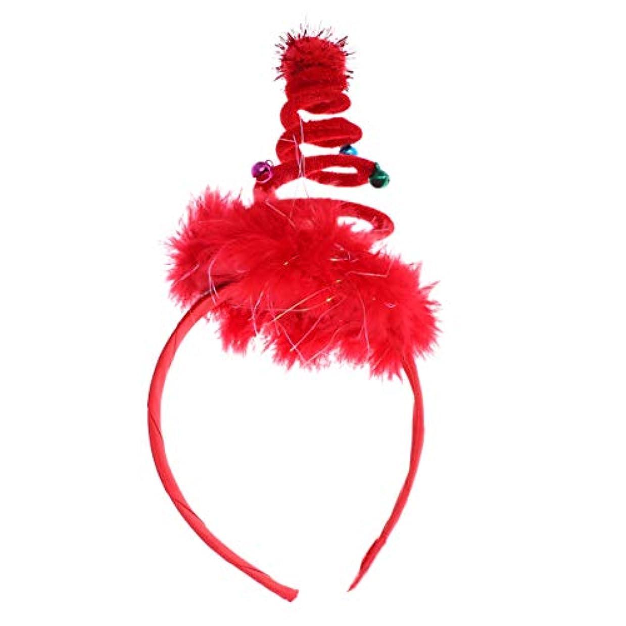 近く横バラ色Lurrose クリスマスヘアフープクリスマス羽は子供の女の子の子供のためのクリスマスパーティーヘアアクセサリーヘッドバンド