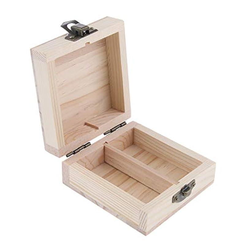 悪質なおめでとう一次エッセンシャルオイルケース アロマ オイルボトル 展示ボックス 木製 2本入 15ミリ