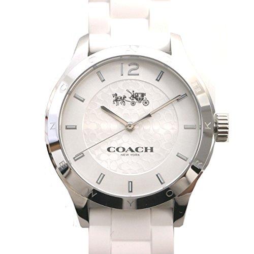 コーチ COACH 時計 腕時計 レディース 『マディ シグネチャーC ステンレス ウォッチ シリコン ラバー ベルト 腕時計 アウトレット』W6033-WHT