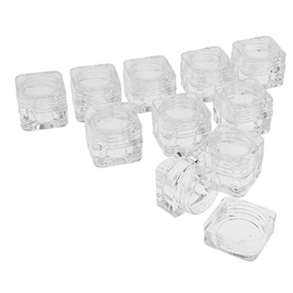 簡単に上げるブラシPerfeclan 10個 プラスチックジャー コスメ 収納ケース 透明 クリームジャー リップクリームコンテナ