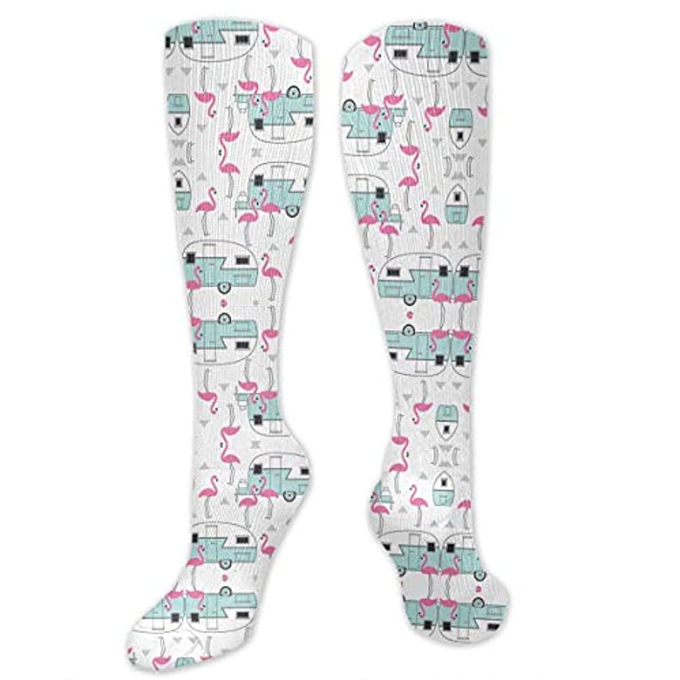 超えてボタン黒板靴下,ストッキング,野生のジョーカー,実際,秋の本質,冬必須,サマーウェア&RBXAA Trailers and Flamingos Socks Women's Winter Cotton Long Tube Socks...