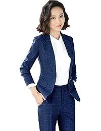 レディース セットスーツ OL オフィス 就活 ビジネス 通勤 リクルート 事務服 長袖 パンツ/スカートスーツ チェック