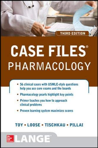 Download Case Files Pharmacology, Third Edition (LANGE Case Files) 0071790233