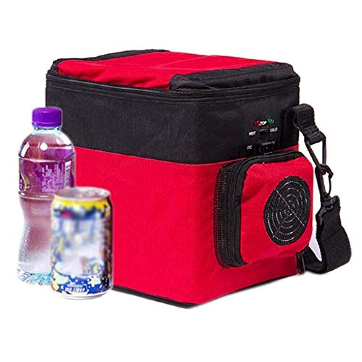 持ってる電話に出る結婚YLLN 6Lミニカー小型冷蔵庫車デュアルユース車ポータブル冷暖房ボックス飲料冷蔵暖房ドミトリーオフィス冷蔵庫(色:RED-Car and home)