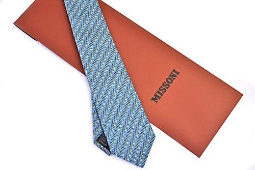 (ミッソーニ) MISSONI ネクタイ 5901 2 ブルー 3247 並行輸入品