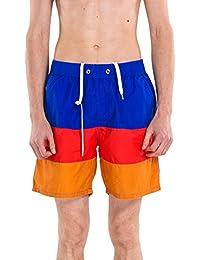 Kayiyasu サーフパンツ メンズ 水着 海水パンツ 男性用 短パン ショーツ 水泳 ショートパンツ 大きいサイズ 旅行 海水浴 スイムウェア 021-gsy-618(L ブルー )