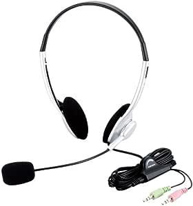 【2010年モデル】エレコム ヘッドセット マイク 両耳 オーバーヘッド 1.8m HS-HP10SV