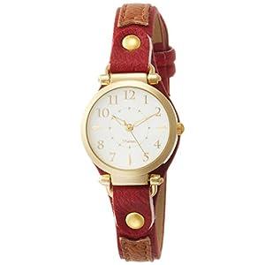 [フィールドワーク]Fieldwork 腕時計 ファッションウォッチ クッキー アナログ 革ベルト レッド ST113-3 レディース
