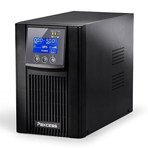 Paxcess 無停電電源装置 800VA/500W UPS (ラインインタラクティブ/純正弦波出力) LCD 長寿命バッテリー シャットダウンソフト付き 新発売 買得 一年保証