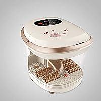 自動 マッサージ フットバス,足湯 熱を持つ,家計 足浴槽 泡 足盆地 ペディキュア デトックス ソーク バケット-a