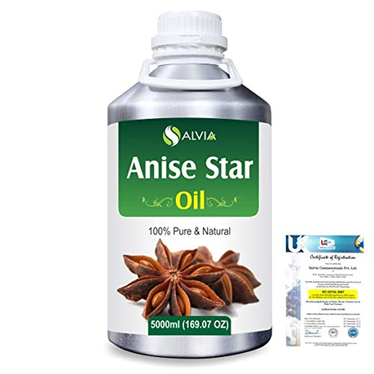 ティーム正確さ病んでいるAnise Star (Illicium Verum) 100% Natural Pure Essential Oil 5000ml/169fl.oz.