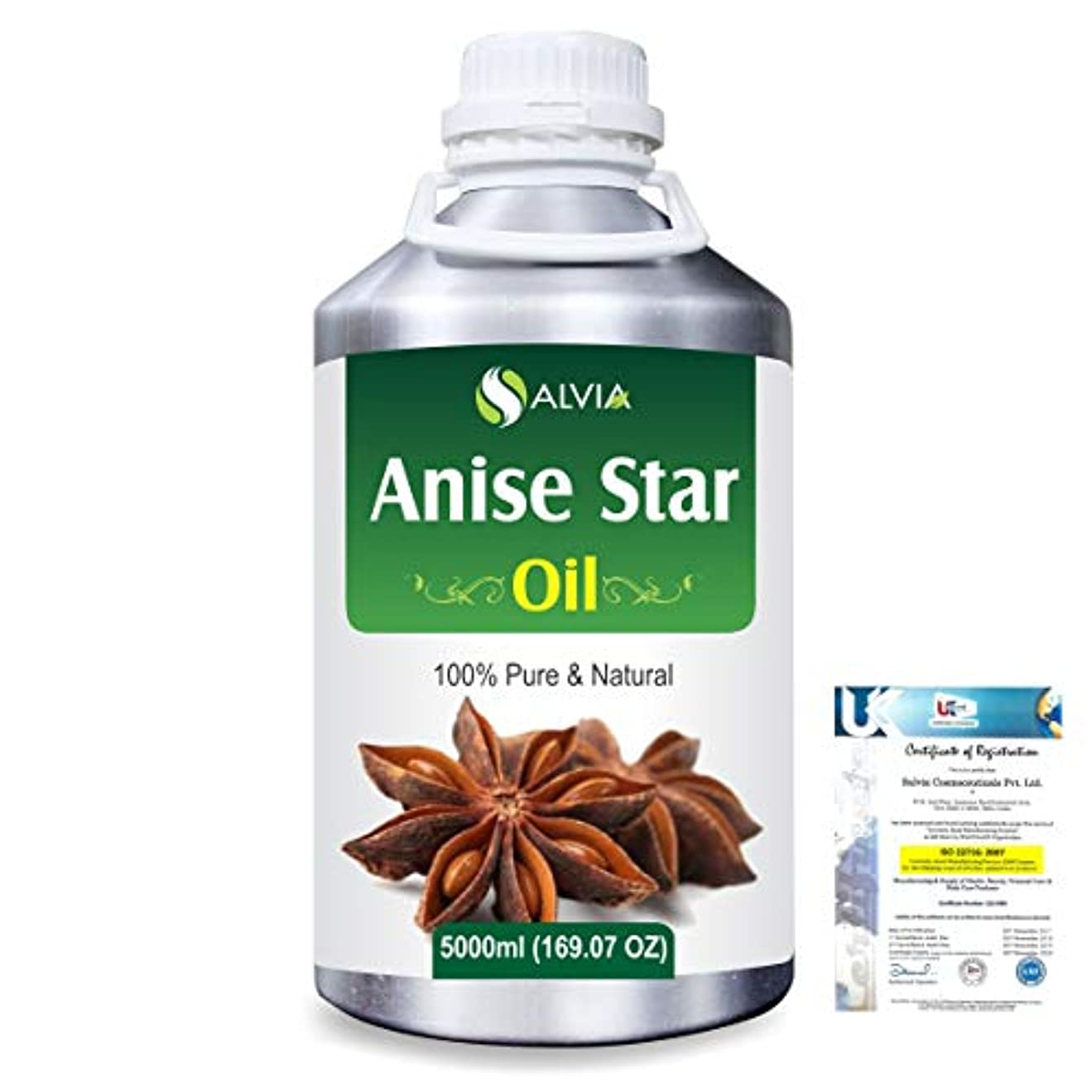 受賞関与するまたはAnise Star (Illicium Verum) 100% Natural Pure Essential Oil 5000ml/169fl.oz.