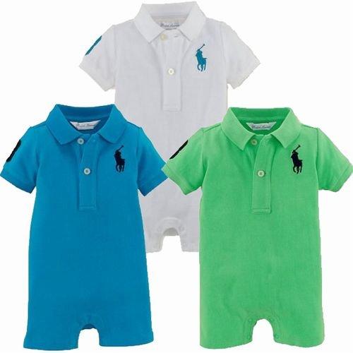 希少色 ショート ワンピース カバーオール(紺色・黄色・青色・白色・緑色) ポロ ラルフ ローレン
