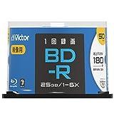 ビクター Victor 1回録画用 BD-R VBR130RP50SJ2 (片面1層/1-6倍速/50枚)