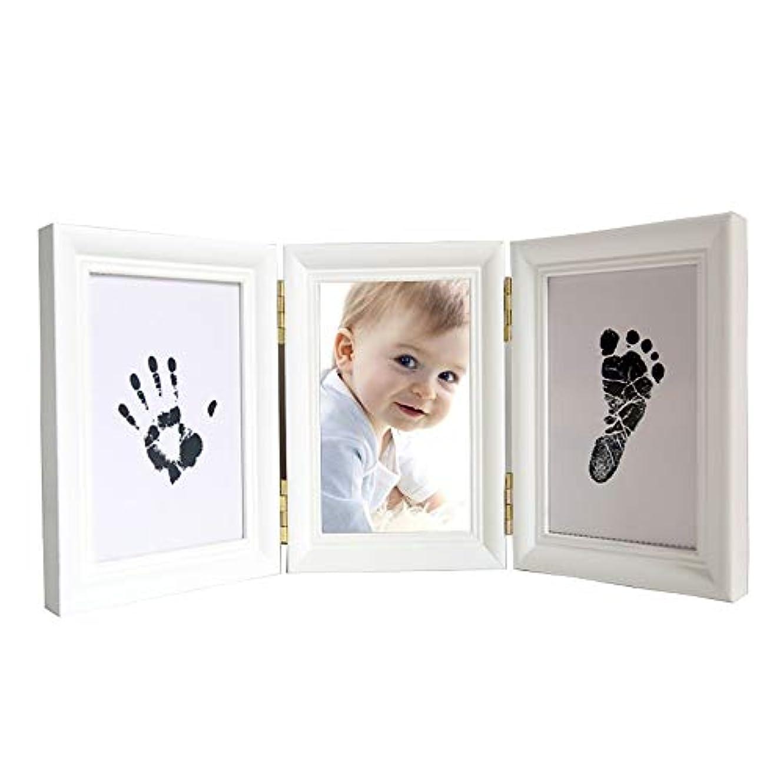局古風な石のベビーインクハンド足跡子供赤ちゃん手形泥フォトフレームお土産ギフト (Color : White, Size : 35x15x2cm)
