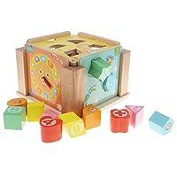 KESOTO 色形状認識玩具 木のおもちゃ 動物形 幾何学ブロック 形合わせ 知恵ボックス