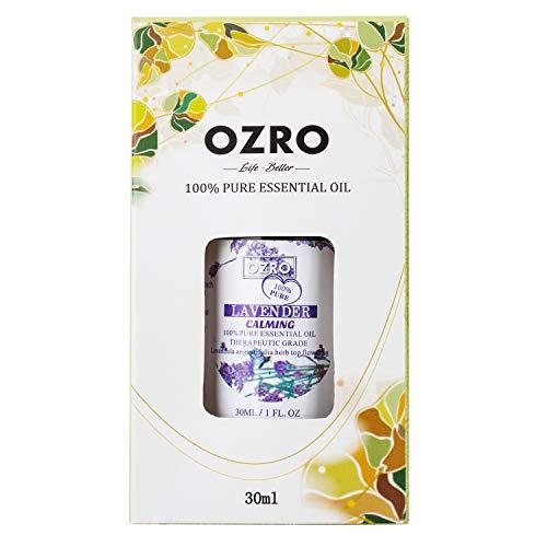 OZRO Lavender Essential Oil, Certified 100% Pure Essential Oils, Therapeutic Grade, Lavandula angustifolia 1 Fl. Oz. (30 ml)
