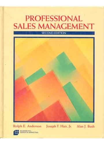 Download Professional Sales Management (MCGRAW HILL SERIES IN MARKETING) 0070016860