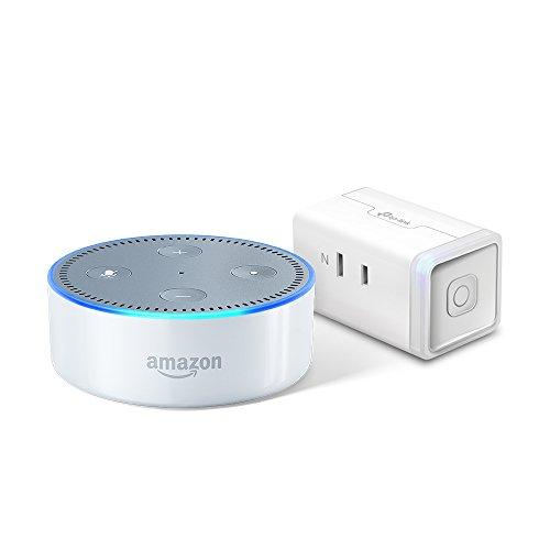 Amazon Echo Dot、ホワイト + TP-Link WiFi スマートプラグ 直差しコンセント 音声コントロール