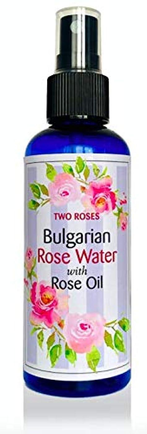 不規則な柔和むしろブルガリアローズウォーター (ローズオイル入) 100 ml Bulgarian Rose Water with Rose Oil [並行輸入品]