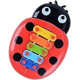 ゴシレ Gosear かわいいかわいい漫画の昆虫の形のプラスチックは、子供のための音楽の楽器教育玩具をノック子供赤ちゃん少年少女