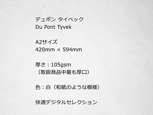 タイベック Tyvek 厚口105gsm A2サイズ 3枚組 【快適デジタルセレクション】 (A2サイズ 3枚組)