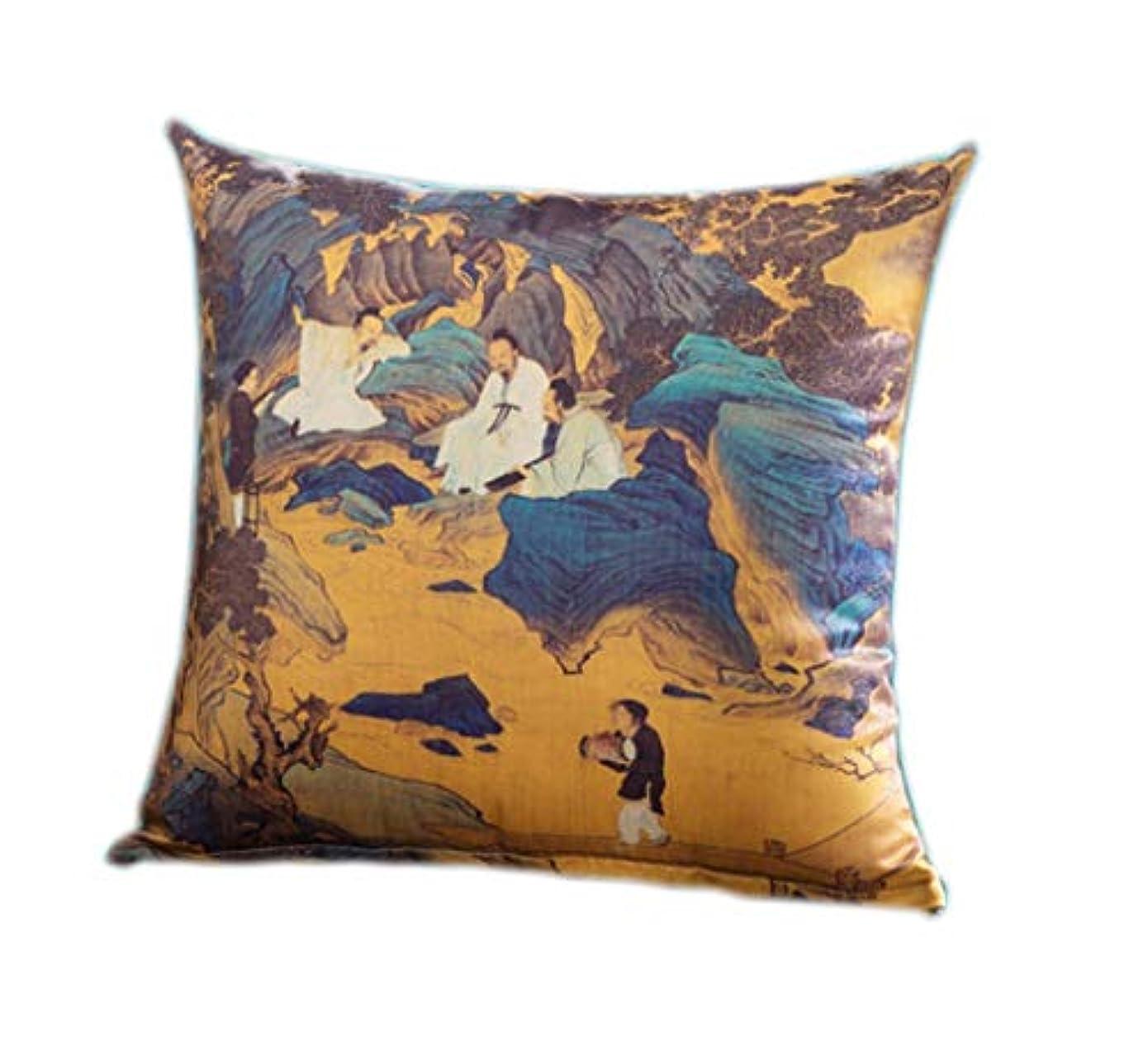 登録する重要な役割を果たす、中心的な手段となる祝福する18-AnyzhanTrade 風景枕ベッドヘッドレストカーシートサテンクッションクッションアートパッド枕クッション (Color : 3#)