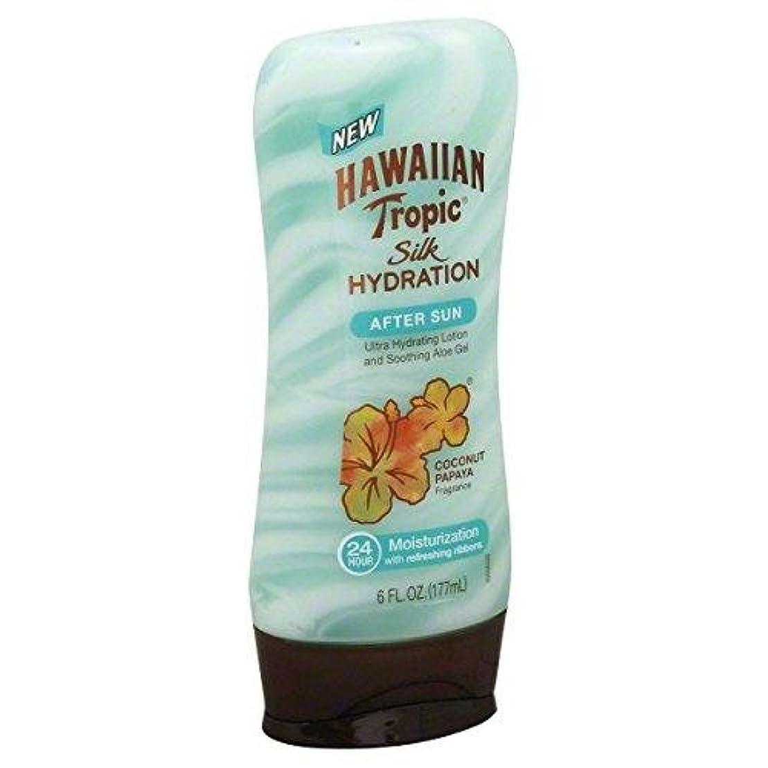 ピケおなじみのしないでください海外直送品【日焼け後のクールダウン&保湿】Hawaiian Tropic Silk Hydration After Sun Ultra Hydrating Lotion & Soothing Aloe Gel, Coconut...