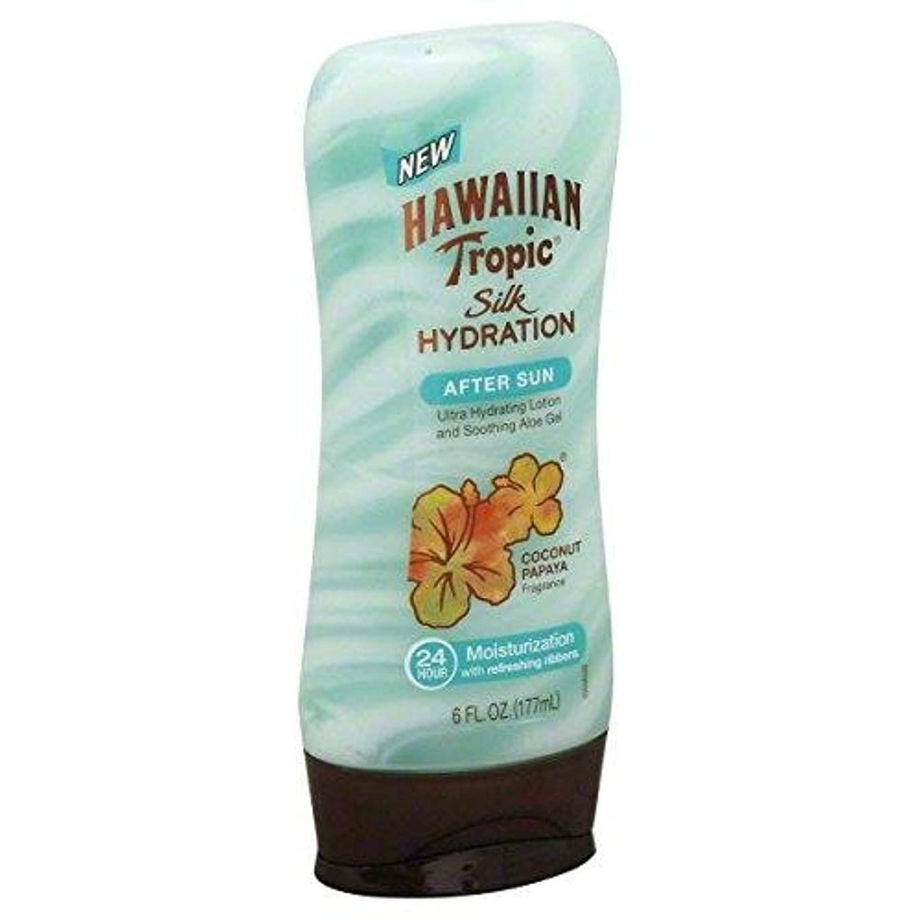 特別に表現豚海外直送品【日焼け後のクールダウン&保湿】Hawaiian Tropic Silk Hydration After Sun Ultra Hydrating Lotion & Soothing Aloe Gel, Coconut Papaya - 6 fl oz (177 ml)