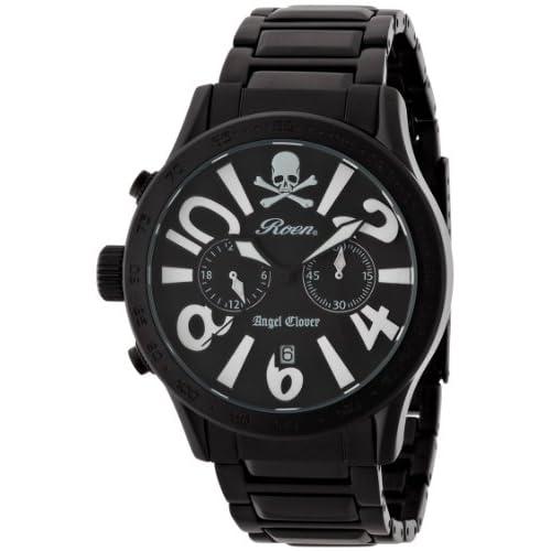 [エンジェルクローバー]Angel Clover 腕時計 ロエンコラボレーション ブラック文字盤 ステンレスべルト デイト クロノグラフ LC42ROBB メンズ