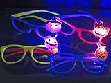 【光る玩具】 ハロウィン ワンポイントおばけの光るメガネ 4柄入り