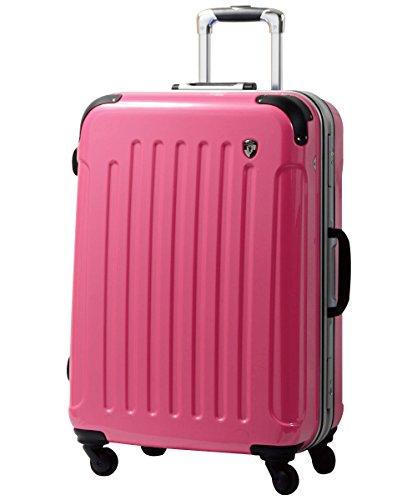 S型 バーニングピンク / newPC7000 スーツケース キャリーバッグ TSAロック搭載 鏡面加工 (1~3日用)